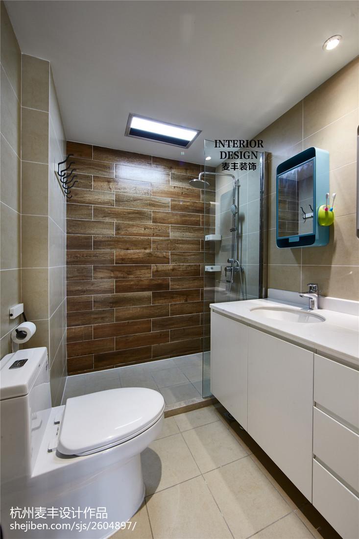 北欧现代卫生间吊顶装修效果图卫生间现代简约卫生间设计图片赏析