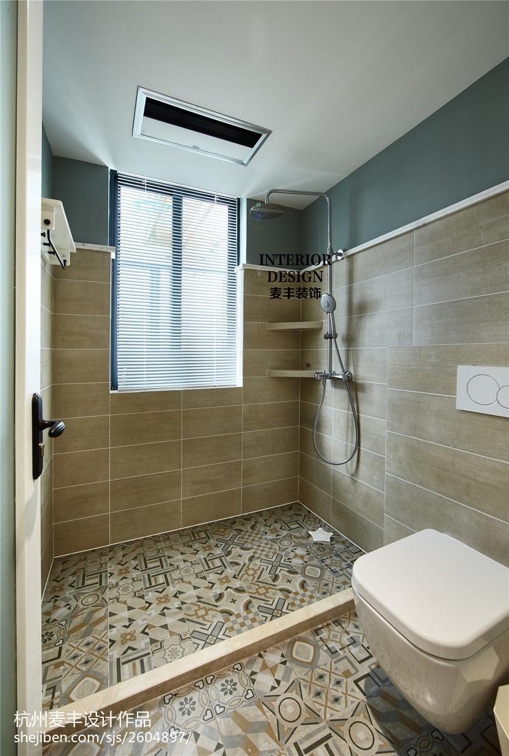 北欧现代卫生间窗户装修效果图卫生间现代简约卫生间设计图片赏析