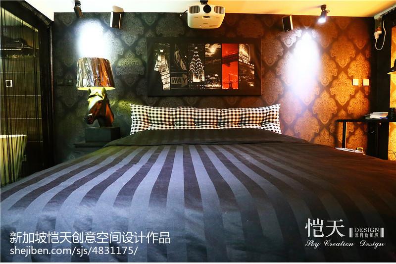 面积119平复式卧室混搭装修实景图片卧室