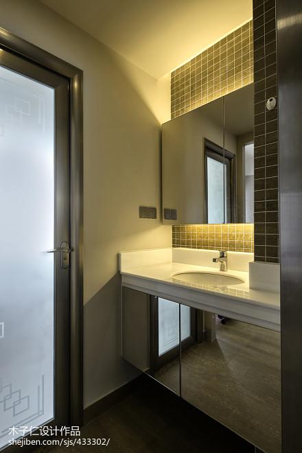 热门面积128平别墅卫生间混搭装饰图片卫生间