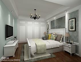 精选面积74平美式二居卧室设计效果图
