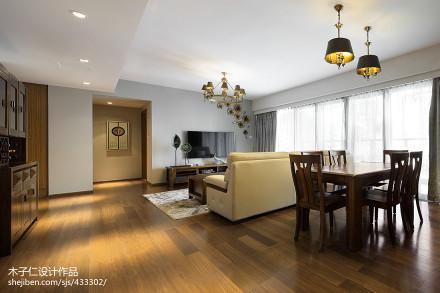 典雅263平中式样板间客厅布置图