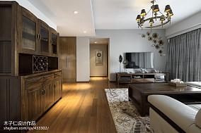 优美266平中式样板间客厅案例图样板间中式现代家装装修案例效果图