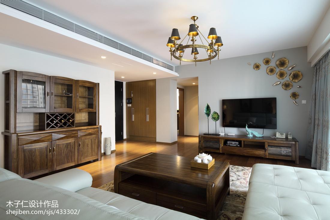 精选中式客厅装修图片大全样板间中式现代家装装修案例效果图