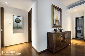 热门中式过道欣赏图片样板间中式现代家装装修案例效果图