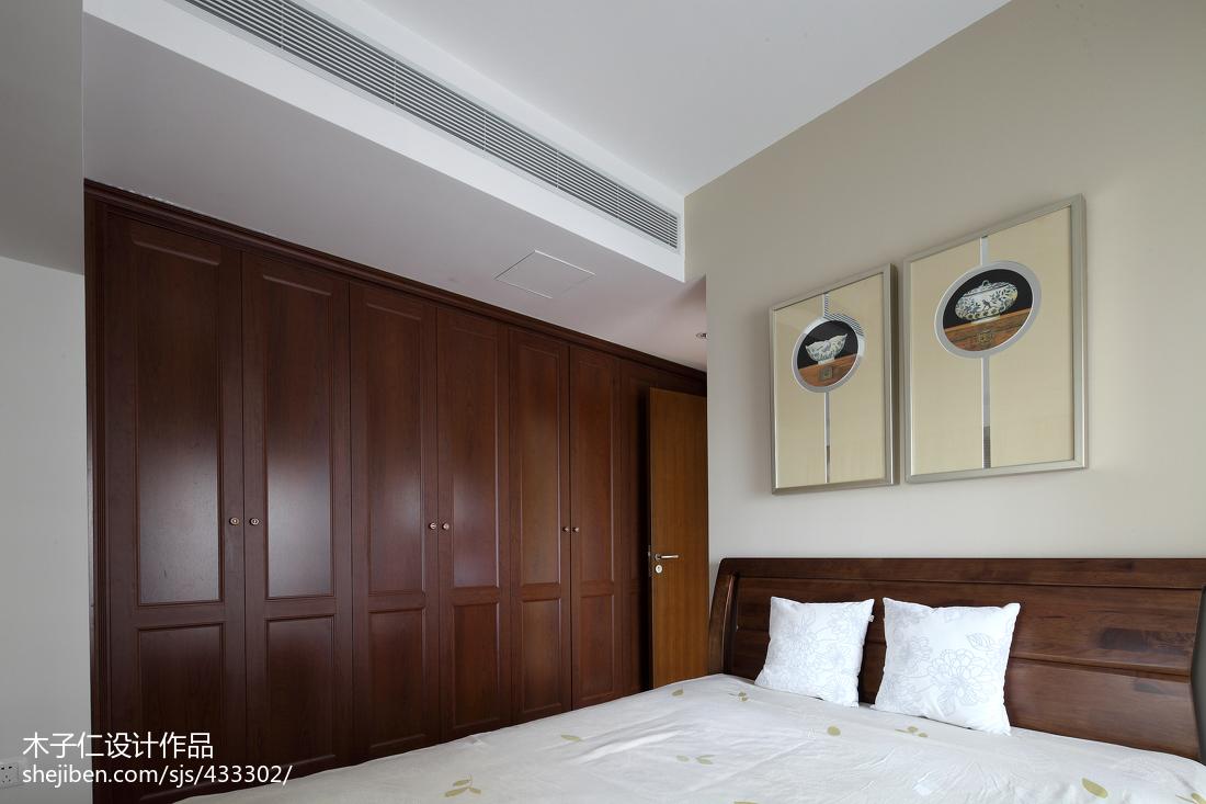 热门卧室中式装修欣赏图片卧室衣柜5图中式现代卧室设计图片赏析