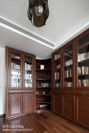 精选中式书房设计效果图样板间中式现代家装装修案例效果图