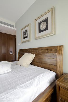 2018精选卧室中式装修图样板间中式现代家装装修案例效果图