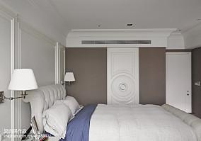 精选面积130平美式四居卧室欣赏图