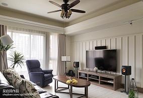 精选面积105平美式三居客厅装饰图片