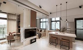 精美80平米现代小户型客厅装修实景图