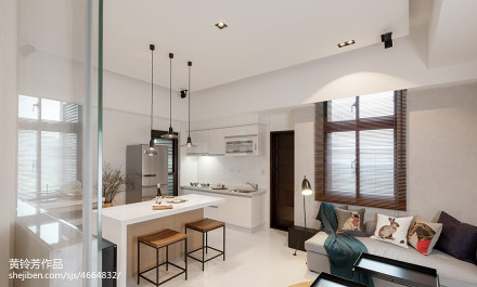 2018面积78平小户型客厅现代装修设计效果图