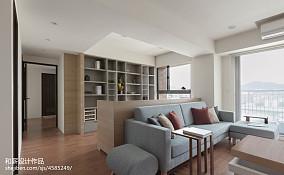 混搭风格客厅隔断设计图二居潮流混搭家装装修案例效果图