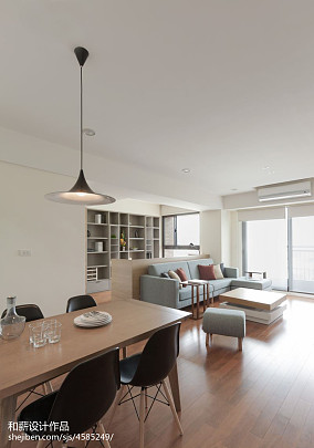 面积78平混搭二居餐厅装修欣赏图片大全二居潮流混搭家装装修案例效果图
