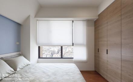 二居室混搭风格卧室卷帘装修效果图卧室