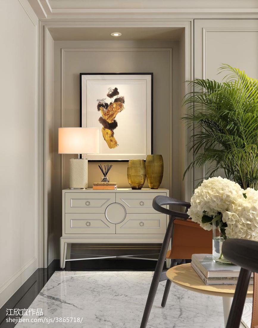 小户型新古典玄关柜子装修图片玄关美式经典玄关设计图片赏析