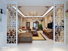 热门大小91平中式三居客厅欣赏图片大全三居中式现代家装装修案例效果图