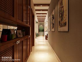 热门102平米三居客厅中式欣赏图片大全三居中式现代家装装修案例效果图