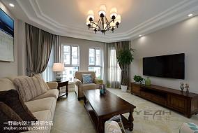 精美121平米美式复式客厅装修图片大全
