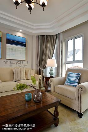 精美面积120平复式客厅美式欣赏图片大全