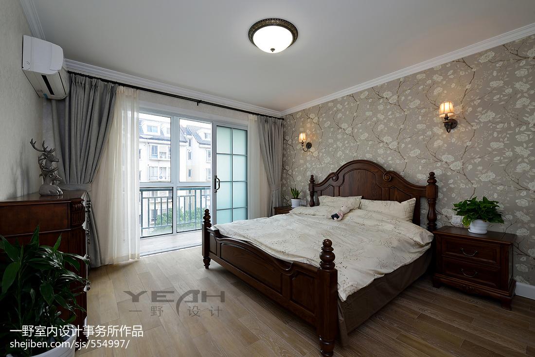 复式楼美式卧室阳台装修设计卧室美式经典卧室设计图片赏析