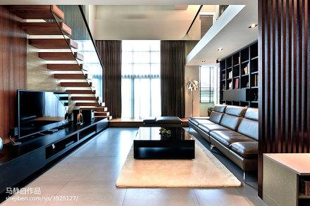 精美77平方二居客厅混搭效果图片欣赏二居潮流混搭家装装修案例效果图