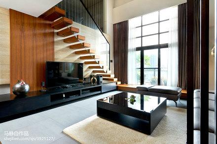 2018精选大小81平混搭二居客厅装修设计效果图