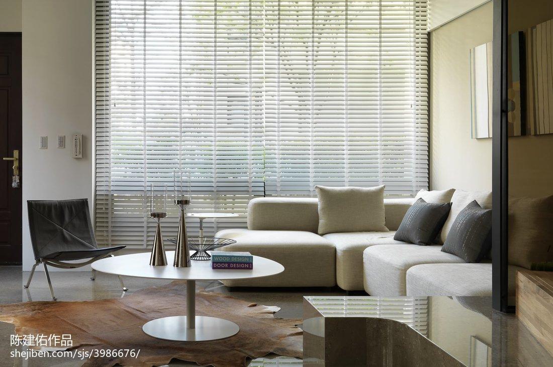 现代风格客厅落地窗装修效果图大全