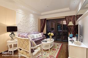 欧式客厅沙发背景墙装修设计