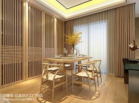 2018面积90平中式三居餐厅装修设计效果图