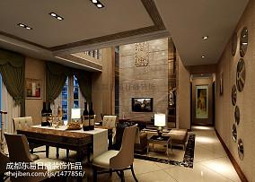 128平米现代复式餐厅装修实景图片