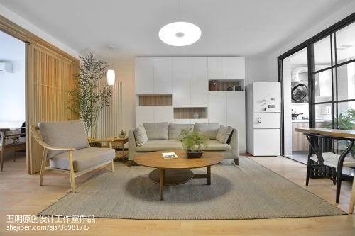 华丽72平中式二居装修图客厅窗帘61-80m²二居中式现代家装装修案例效果图