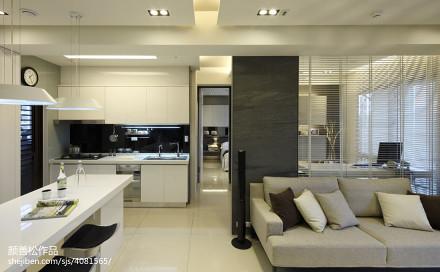 热门74平米二居客厅现代装修图片大全