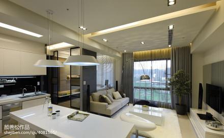2018精选76平米二居餐厅现代装修设计效果图二居现代简约家装装修案例效果图