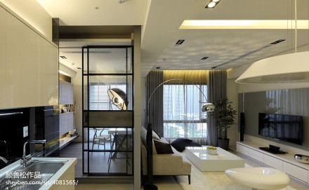 小户型现代客厅隔断装修设计