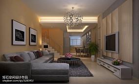 新中式院落别墅客厅装修