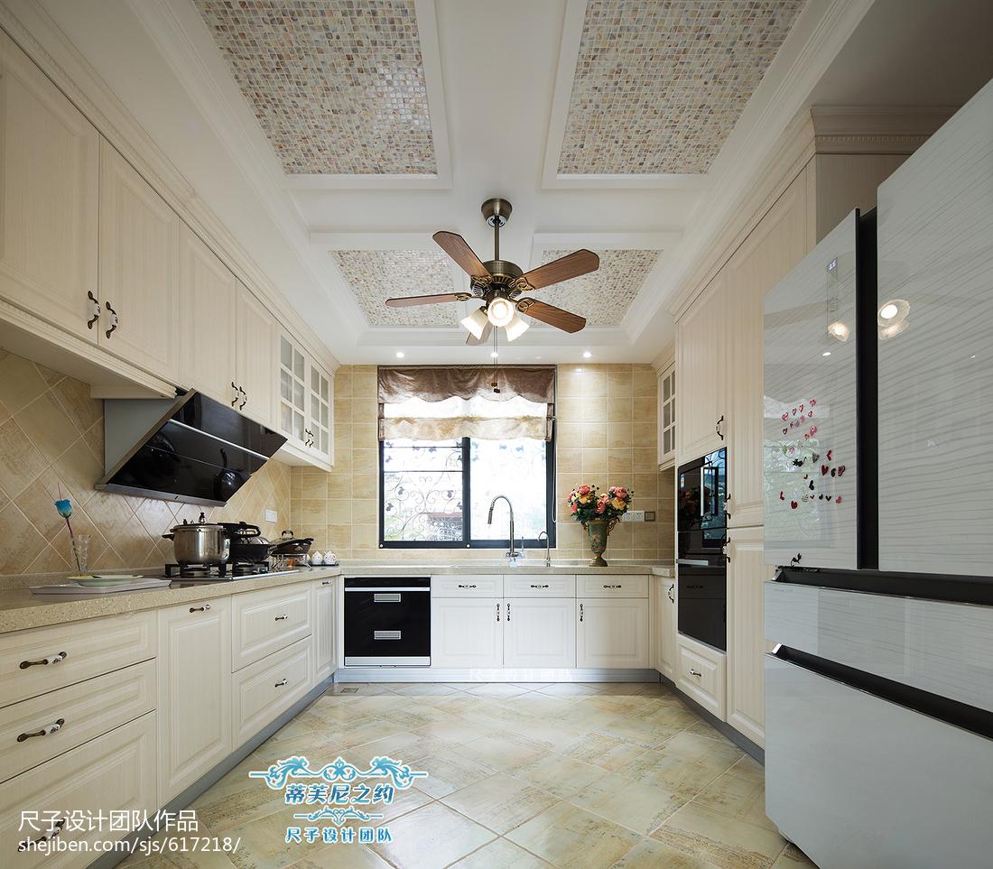复式楼欧式厨房吊顶装修设计欧式豪华设计图片赏析