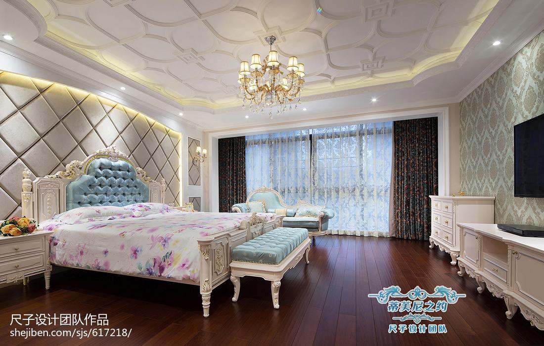 复式楼欧式卧室吊顶装修设计欧式豪华设计图片赏析