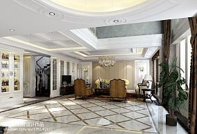 欧式风格客厅地面拼花效果图大全151-200m²别墅豪宅欧式豪华家装装修案例效果图
