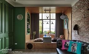 温馨60平混搭二居设计案例60m²以下二居潮流混搭家装装修案例效果图