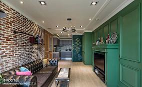 质朴86平混搭二居装修设计图60m²以下二居潮流混搭家装装修案例效果图