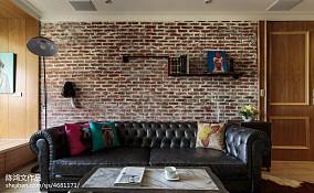 精美面积87平混搭二居客厅装修效果图片60m²以下二居潮流混搭家装装修案例效果图