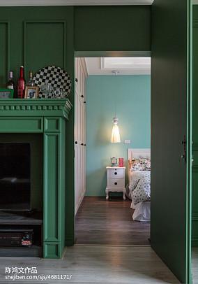 精选89平米二居卧室混搭装修效果图60m²以下二居潮流混搭家装装修案例效果图