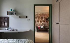 平米二居卧室混搭实景图片欣赏60m²以下二居潮流混搭家装装修案例效果图