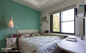 悠雅72平混搭二居卧室装修美图60m²以下二居潮流混搭家装装修案例效果图
