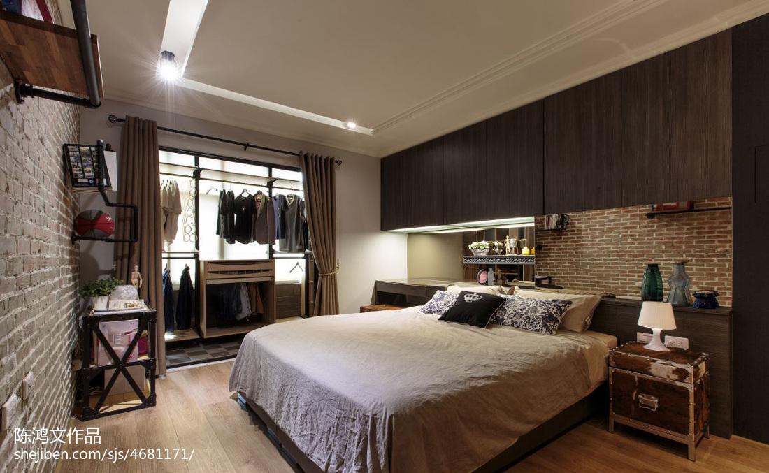 2018精选面积86平混搭二居卧室装修设计效果图片欣赏卧室