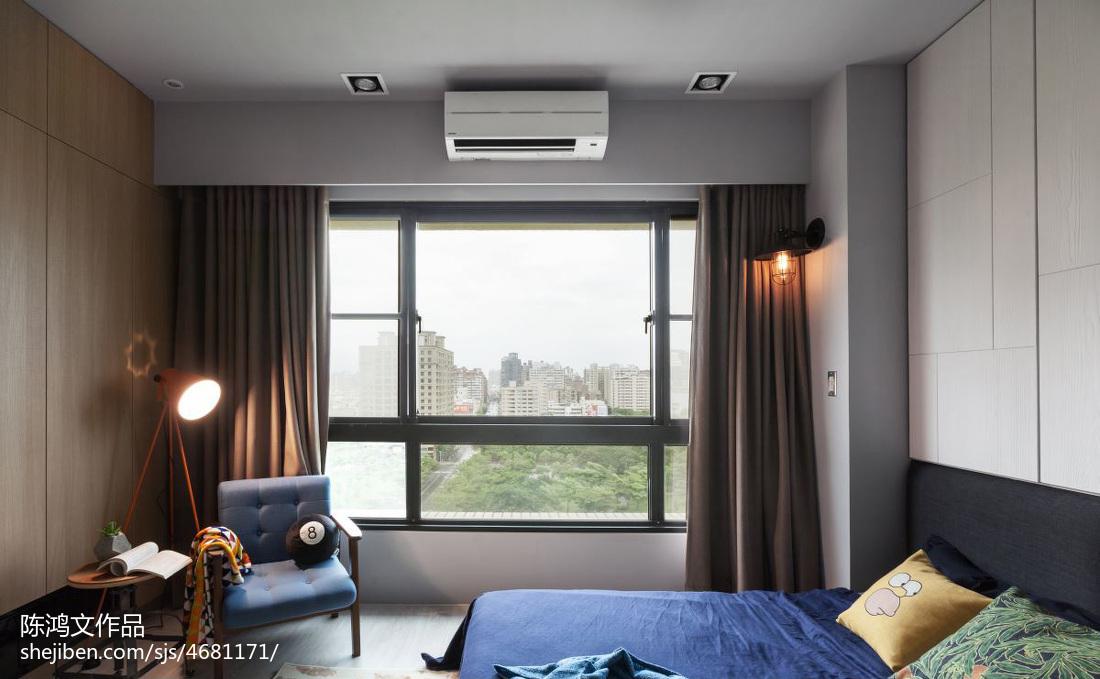 热门95平方三居卧室混搭装修实景图卧室潮流混搭卧室设计图片赏析
