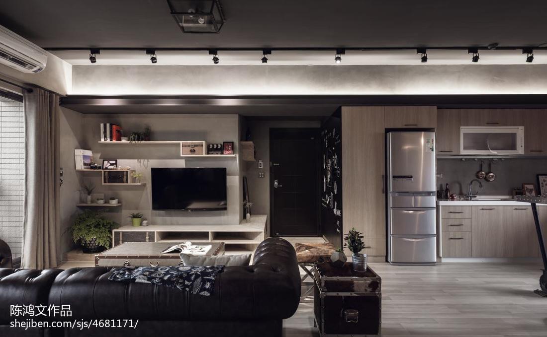 2018精选88平方二居客厅混搭装修设计效果图片客厅1图