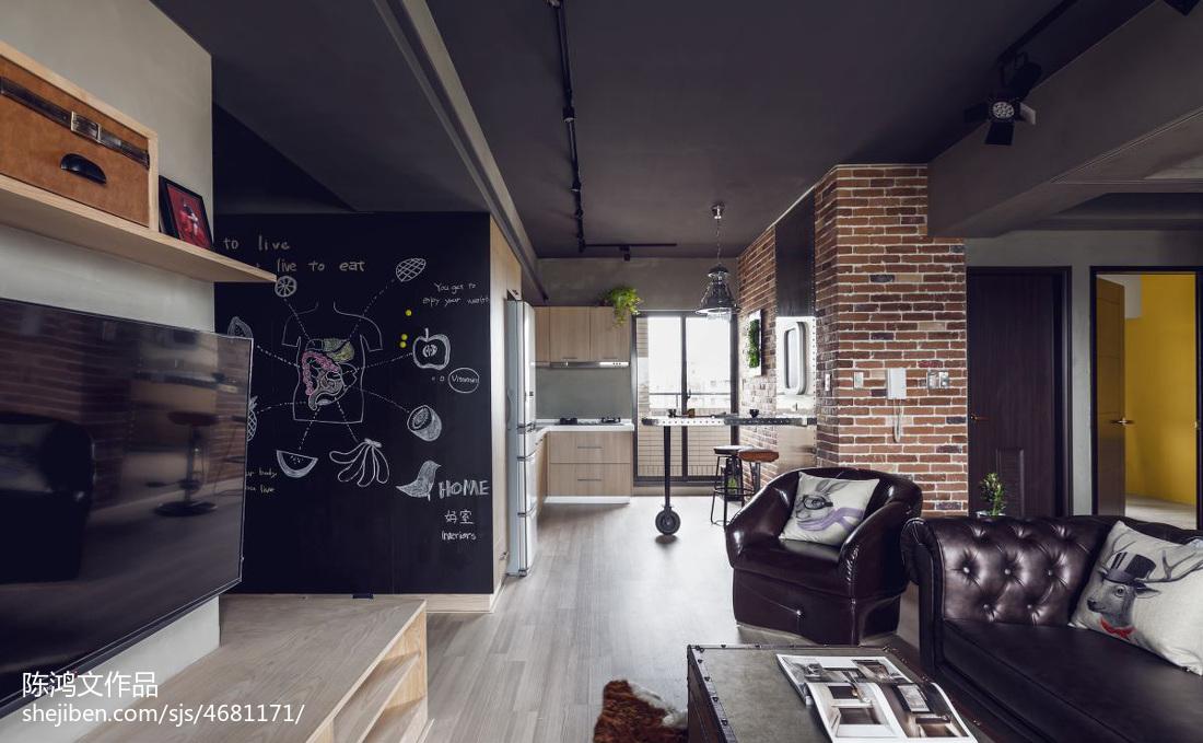 热门72平方二居客厅混搭效果图片欣赏客厅3图