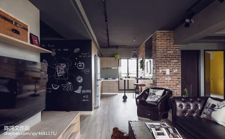 热门72平方二居客厅混搭效果图片欣赏客厅